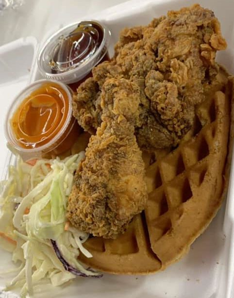 Chicken and Waffles Platter